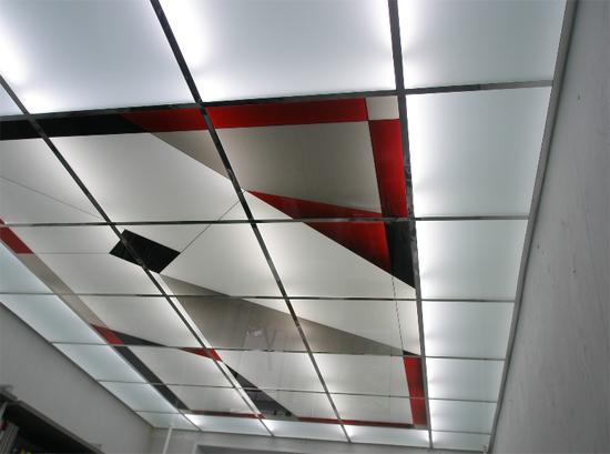 подвесной потолок типа армстронг на фото