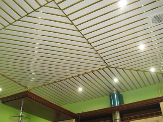 фото реечных потолков на кухню