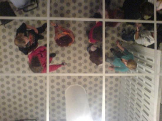 потолок из зеркальной плитки