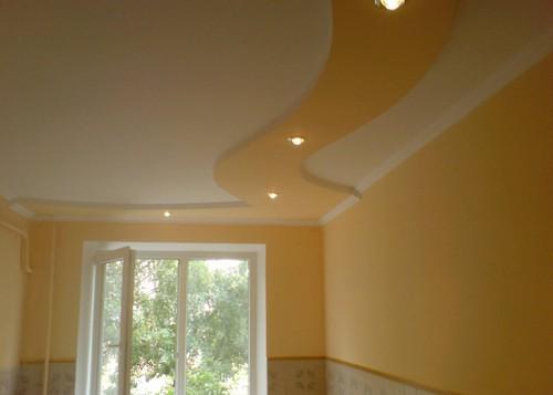 фото гипсокартонного потолка в спальне