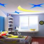 Дизайн потолка в детской комнате