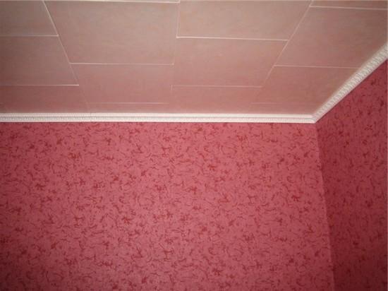 клеевые потолки в спальне