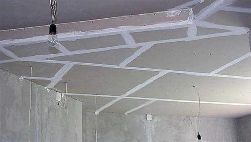 Потолок из гипсокартона своими руками пошаговое