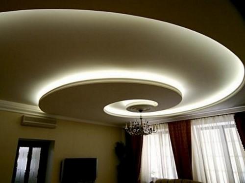 подсветка потолка натяжного