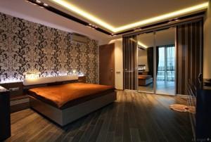 подсветка потолка в спальне