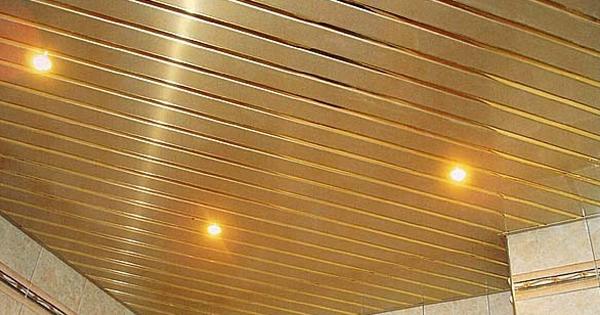 реечные потолки для кухне