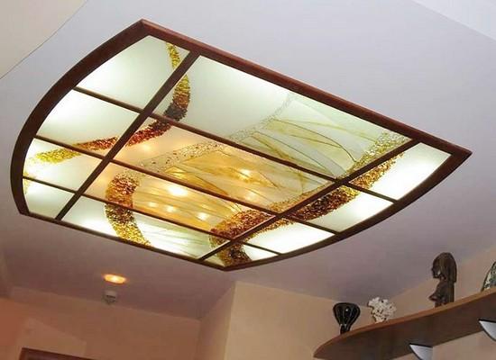 подвесные витражные потолки на фото