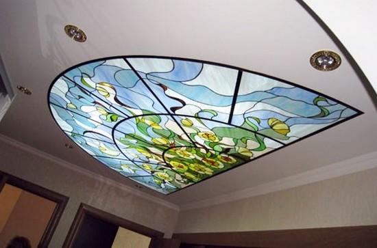 подвесные витражные потолки