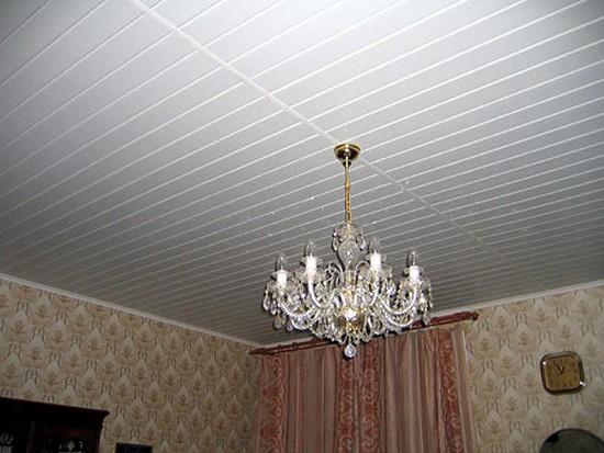 на фото потолки из панелей пвх