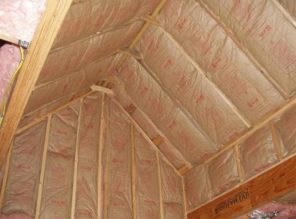 правильное утепление потолка бани