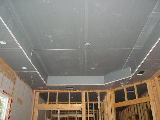 Как сделать двухуровневый потолок из гипсокартона видео фото 370