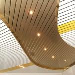 Реечные подвесные алюминиевые потолки