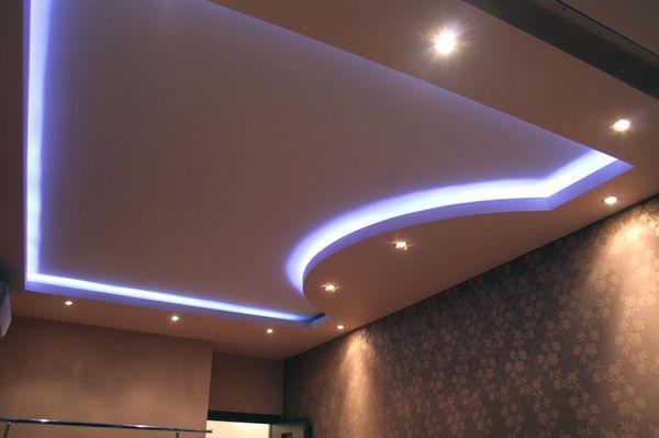 Дизайн гипсокартонного потолка в спальне