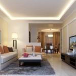 Оформление дизайна интерьера потолка в гостиной