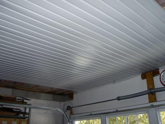 Как и чем отделать потолок в гараже фото идеи