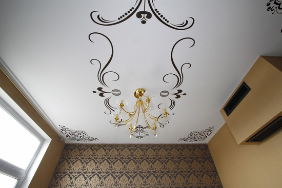 Рисунок на потолок своими руками фото