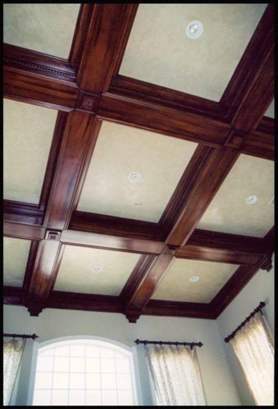 Как сделать кессонный потолок