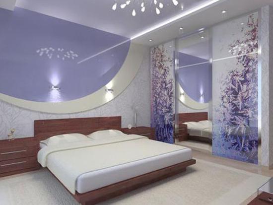 Комбинированные потолки в спальне фото
