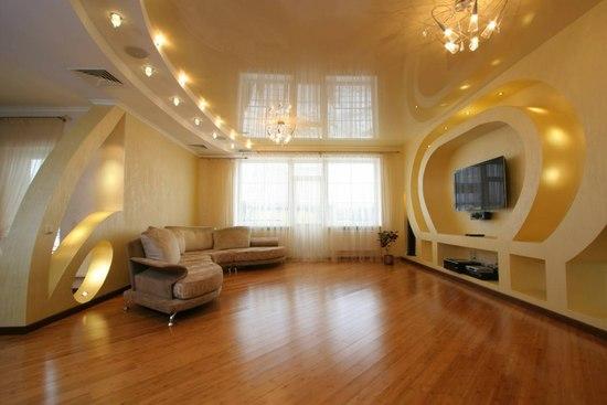 Навесной потолок из гипсокартона своими руками фото зала фото 684