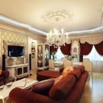 Стиль барокко на потолке