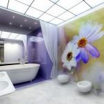 Интерьер ванной со стеклянным потолком