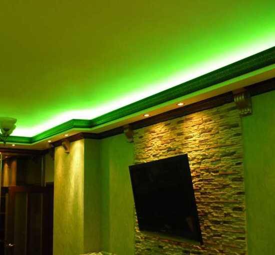 фото потолков с подсветкой из гипсокартона