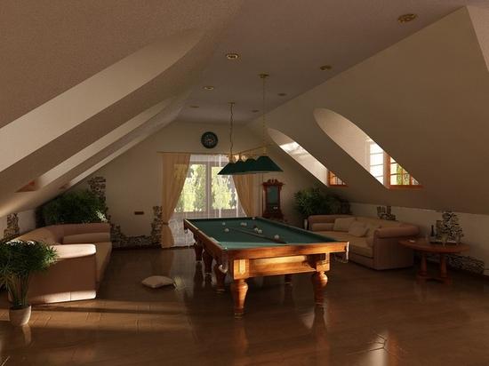 Мансардные потолки дизайн