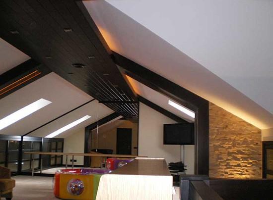 фото дизайна чердачного помещения