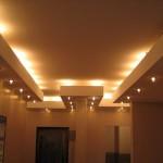 Освещение потолка из гипсокартона: фото варианты