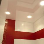 Как делаются навесные потолки в ванной комнате