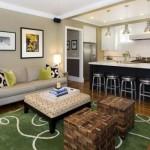 Какими делать потолки в кухне-гостиной