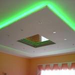 Как установить светодиодные ленты для подсветки потолка