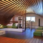 Особенности изготовления потолка из деревянных панелей