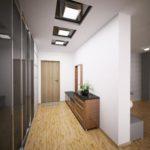 Современный дизайн потолков из гипсокартона в прихожей
