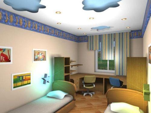 dizajn-potolka-detskoj_5