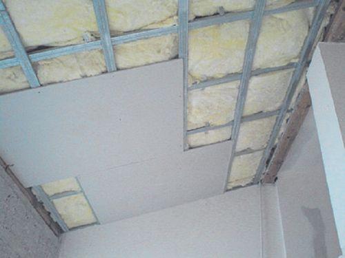 Теплоизоляция в подвесном потолке