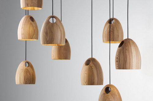 Деревянная люстра с колокольчиками